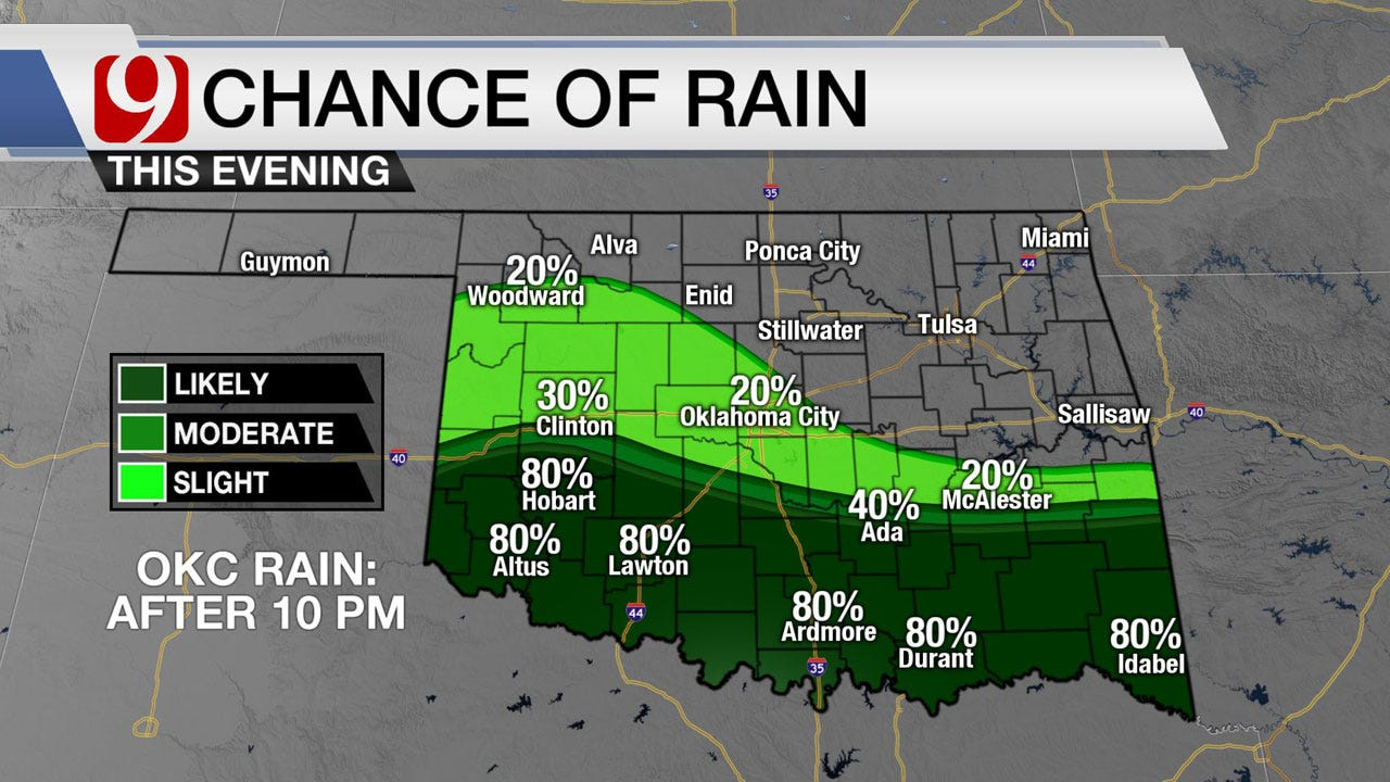Much-Needed Rain Expected Across Oklahoma Over The Weekend