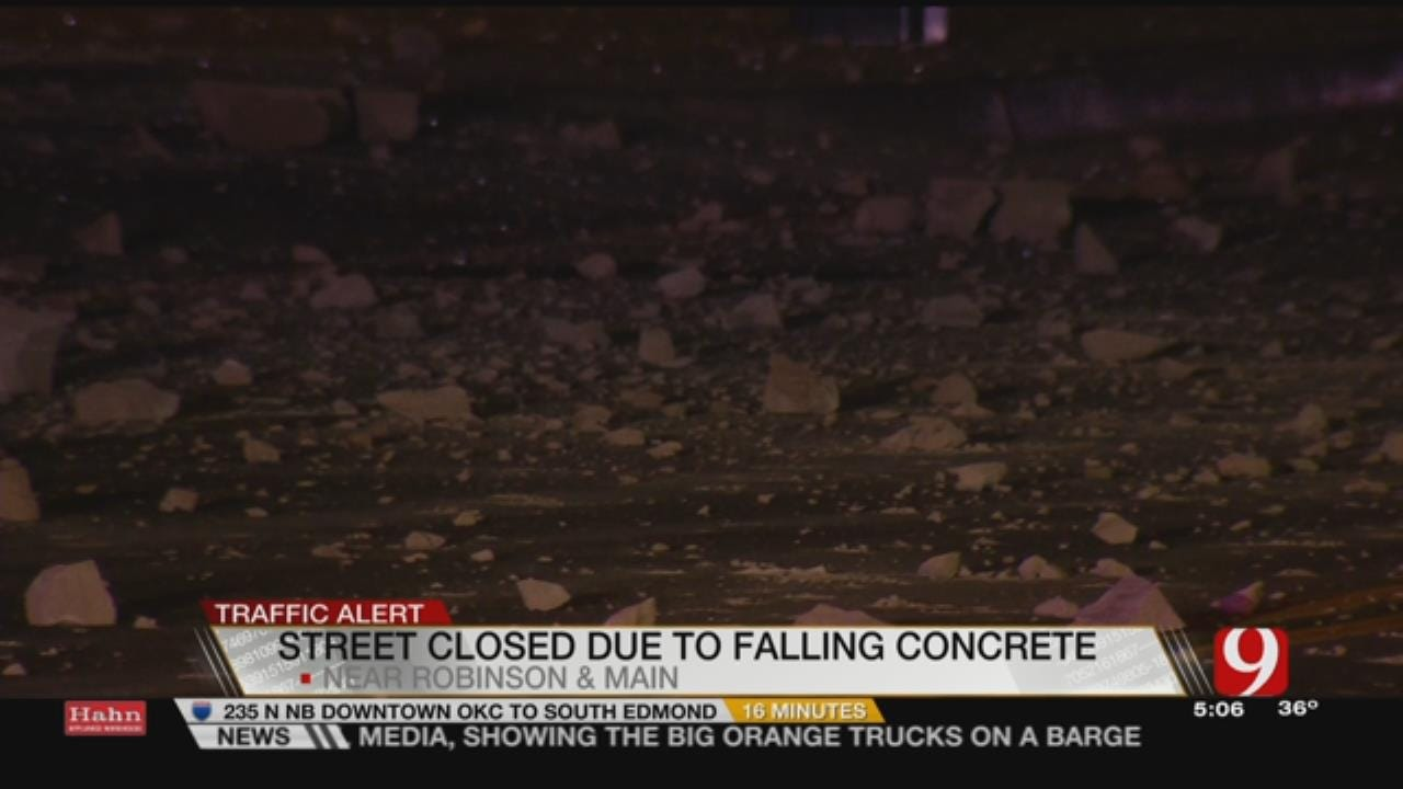 Concrete Falls From Downtown OKC Building