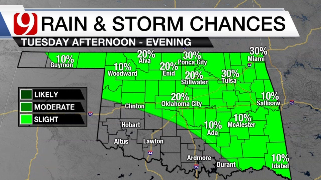 A Few Storms Tuesday With Dangerous Heat To Follow