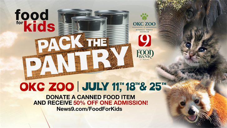 OKC Zoo, News 9 Partner To 'Pack The Pantry' Across Oklahoma