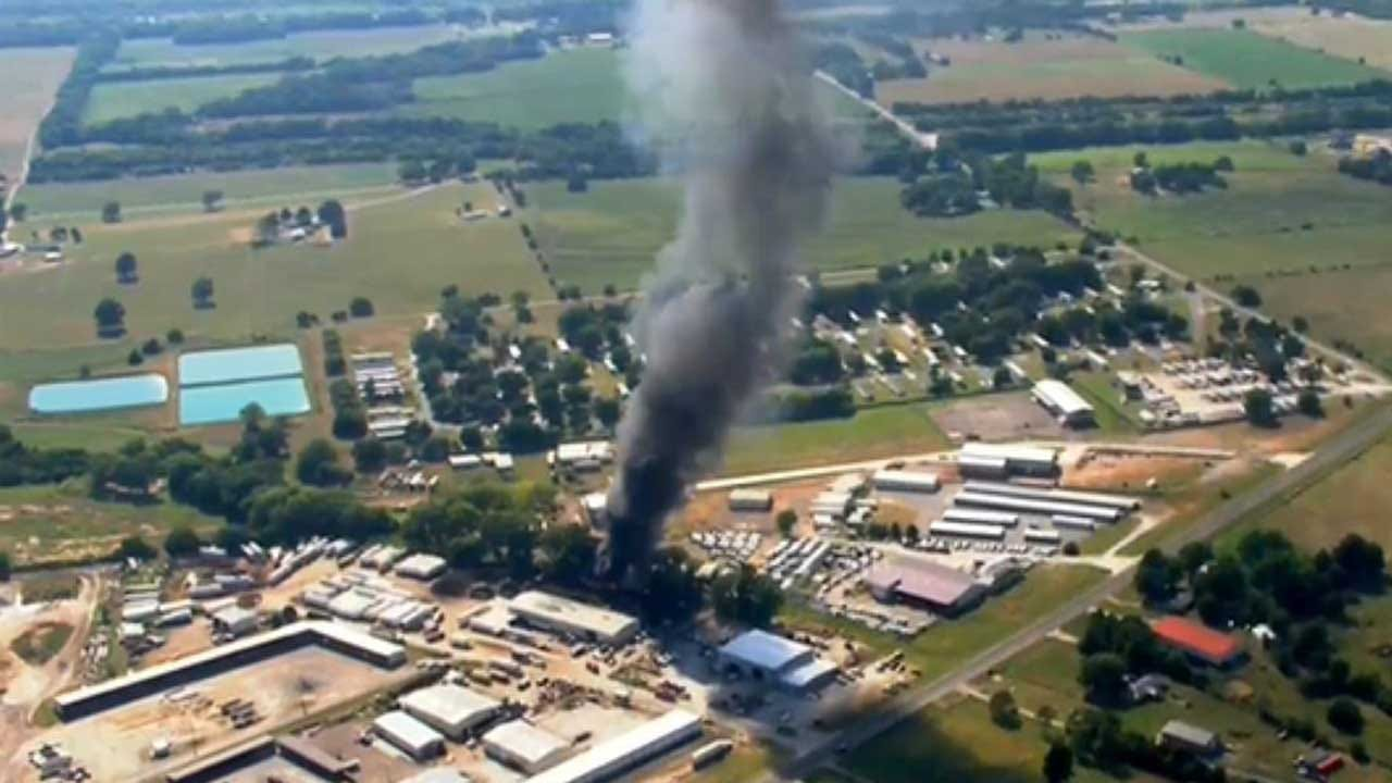 Large Fire At Tire Plant In Cleveland Co. Reported