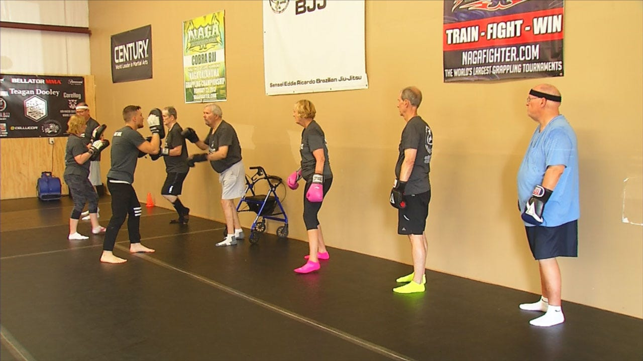 Parkinson's Patients Find Hope Through Boxing At NW OKC Gym