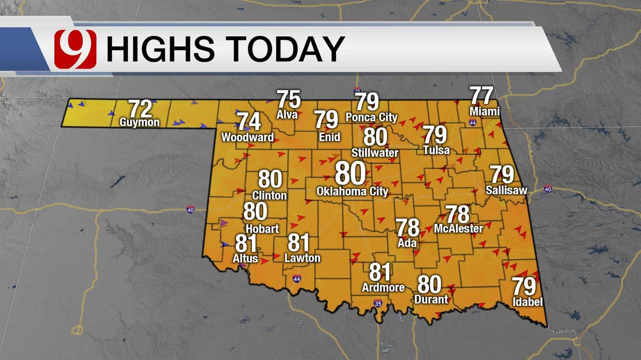 Extreme Fire Threat As High Temps, Strong Winds Move Through OKC Metro