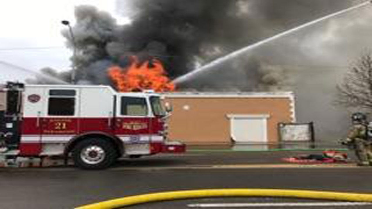Firefighter Battle 4 Alarm Commercial Fire In SW OKC