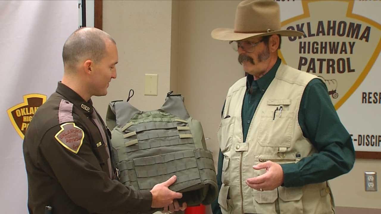 OHP Trooper Receives New Ballistic Vest After Talihina Shootout
