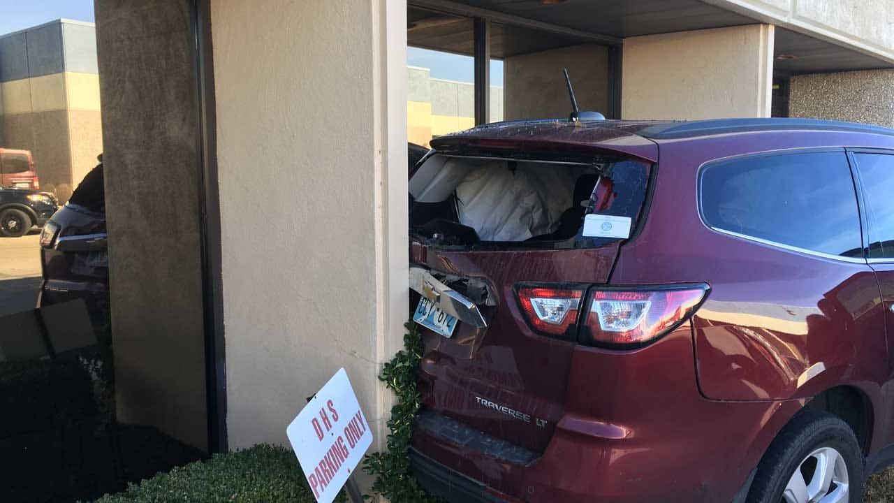Vehicle Crashes Into Cleveland County Building