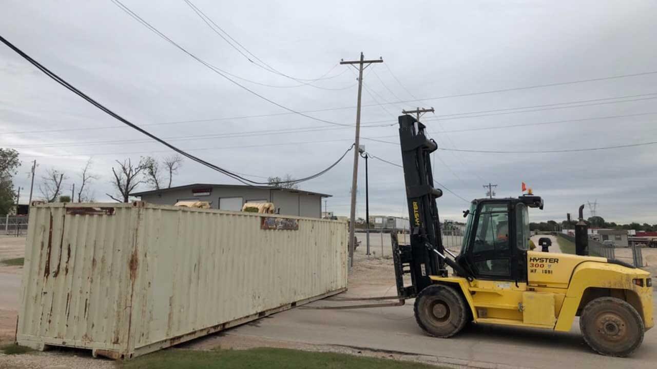 Firefighters, OG&E Respond After Forklift Driver Strikes Power Lines In SW OKC