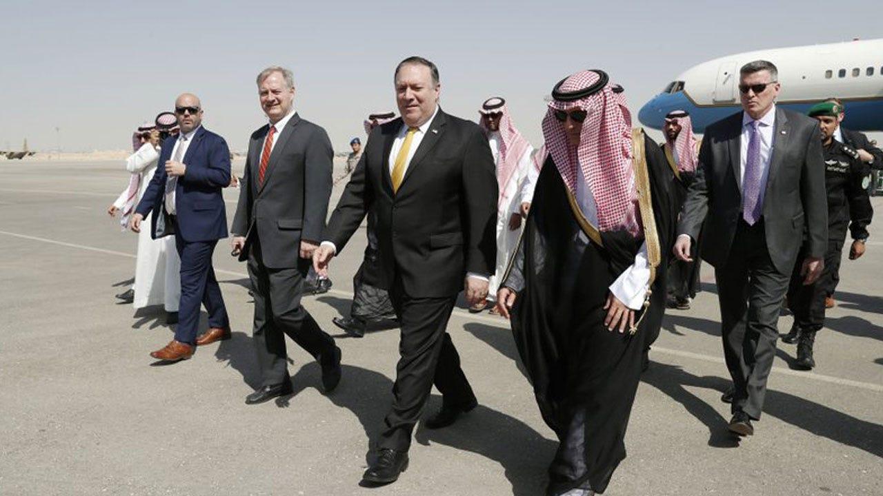 U.S. Secretary of State Lands In Saudi Arabia Over Disappearance Of Saudi Writer