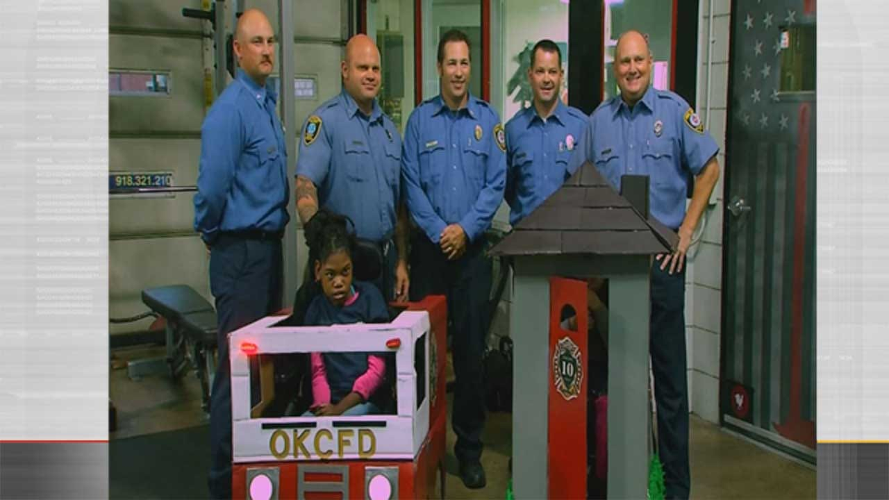 OKC Fire Department Makes Halloween Costume Wishes Reality For 2 Girls