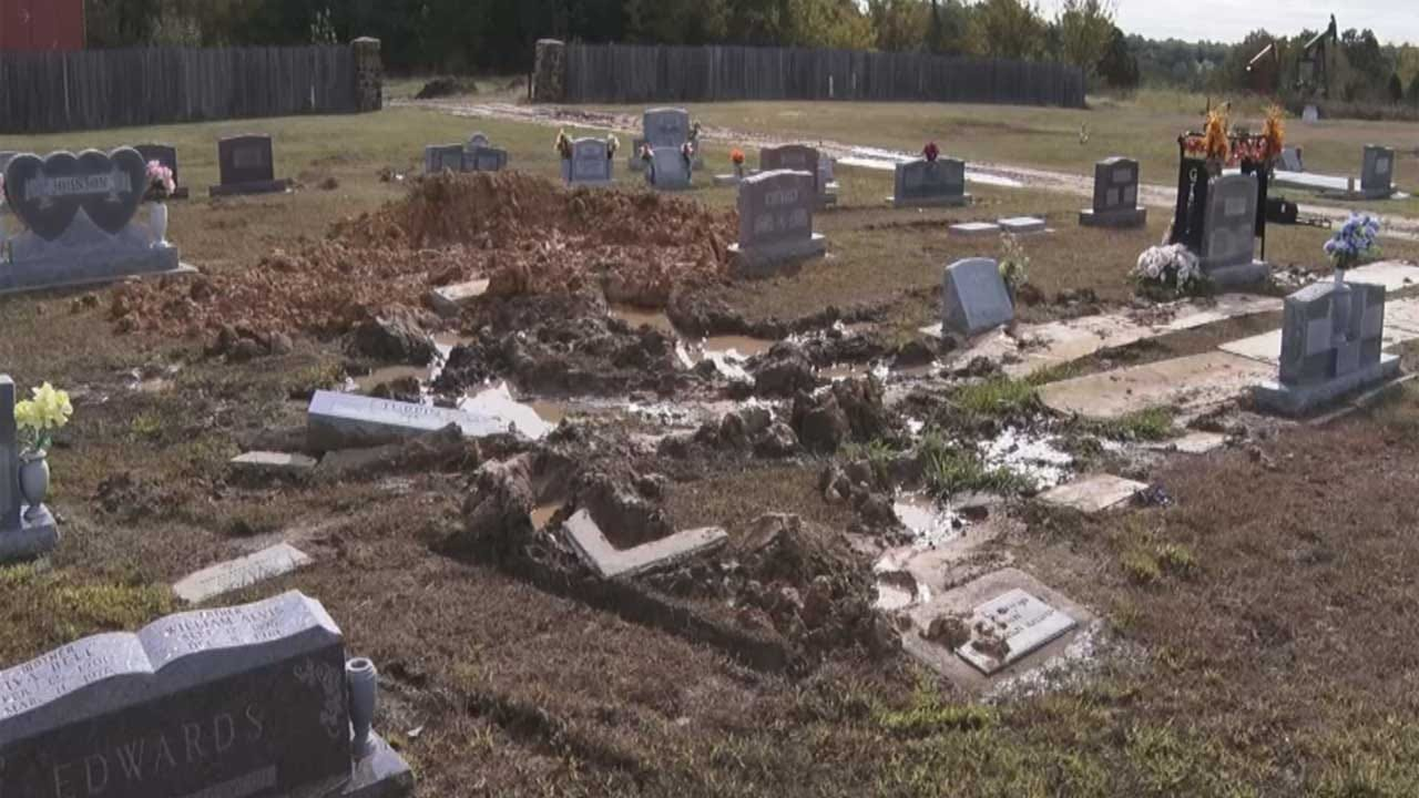 Woman Calls For Wewoka City Employee's Firing After Headstones Damaged