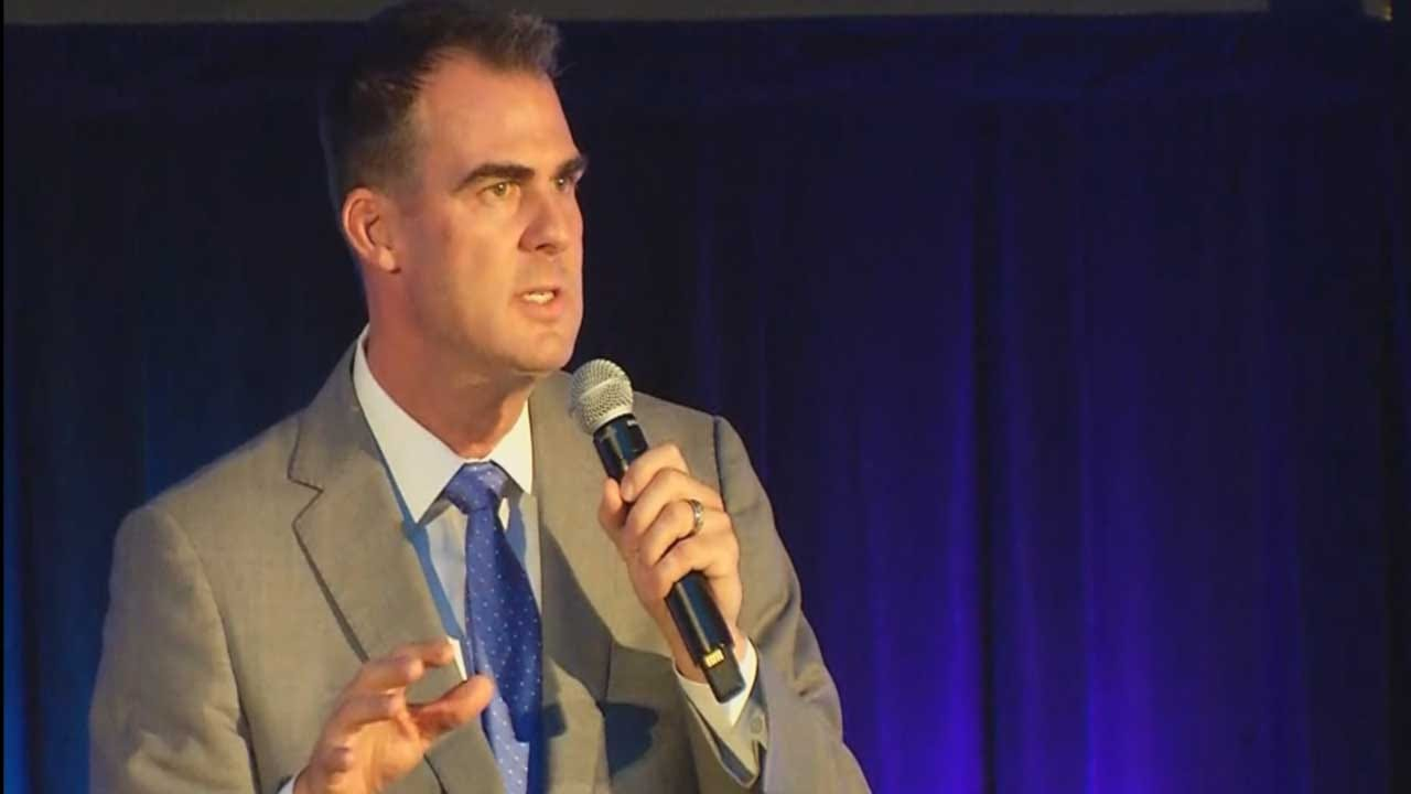 Kevin Stitt Speaks On His Education Plan At State School Board Forum