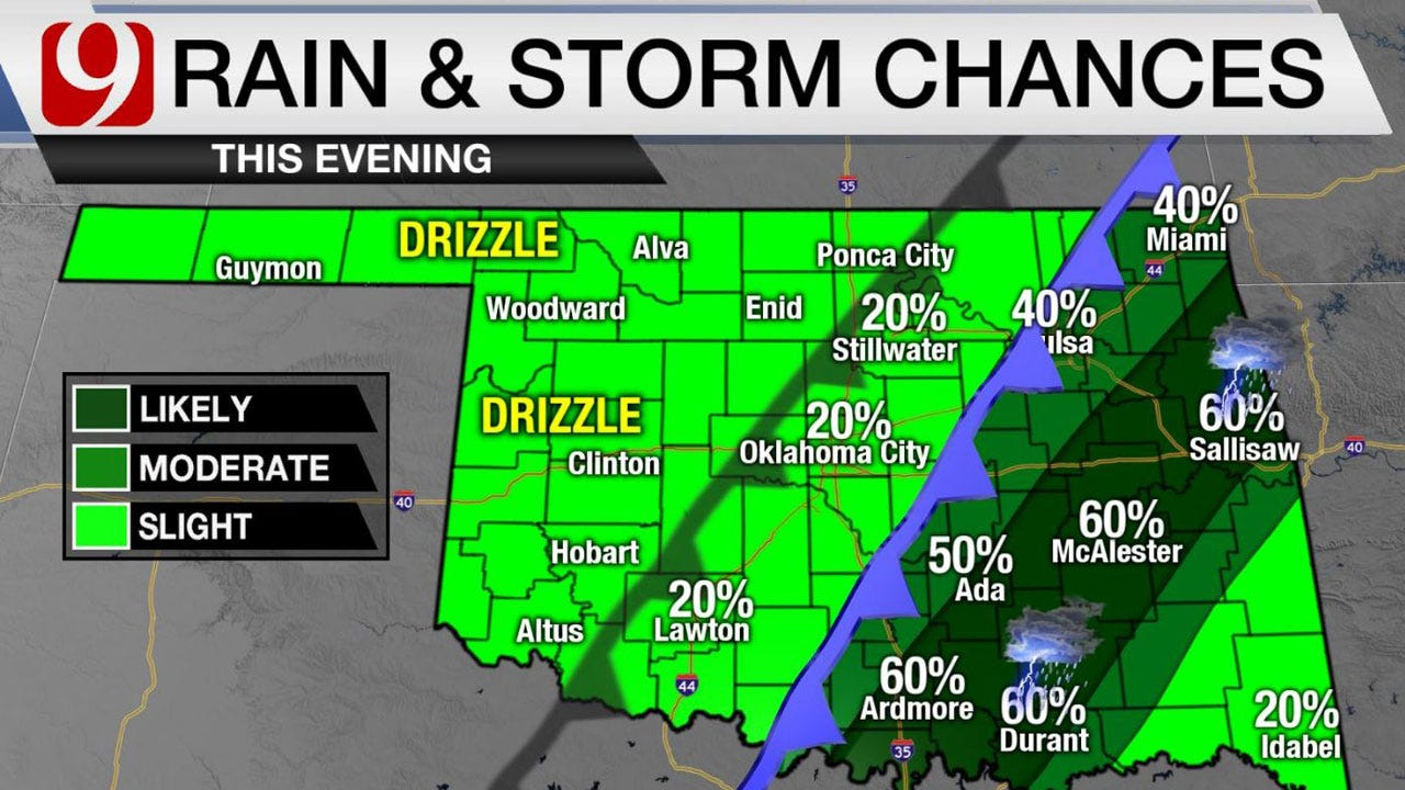 Cold Front Tuesday Evening With Chance For A Few Thunderstorms