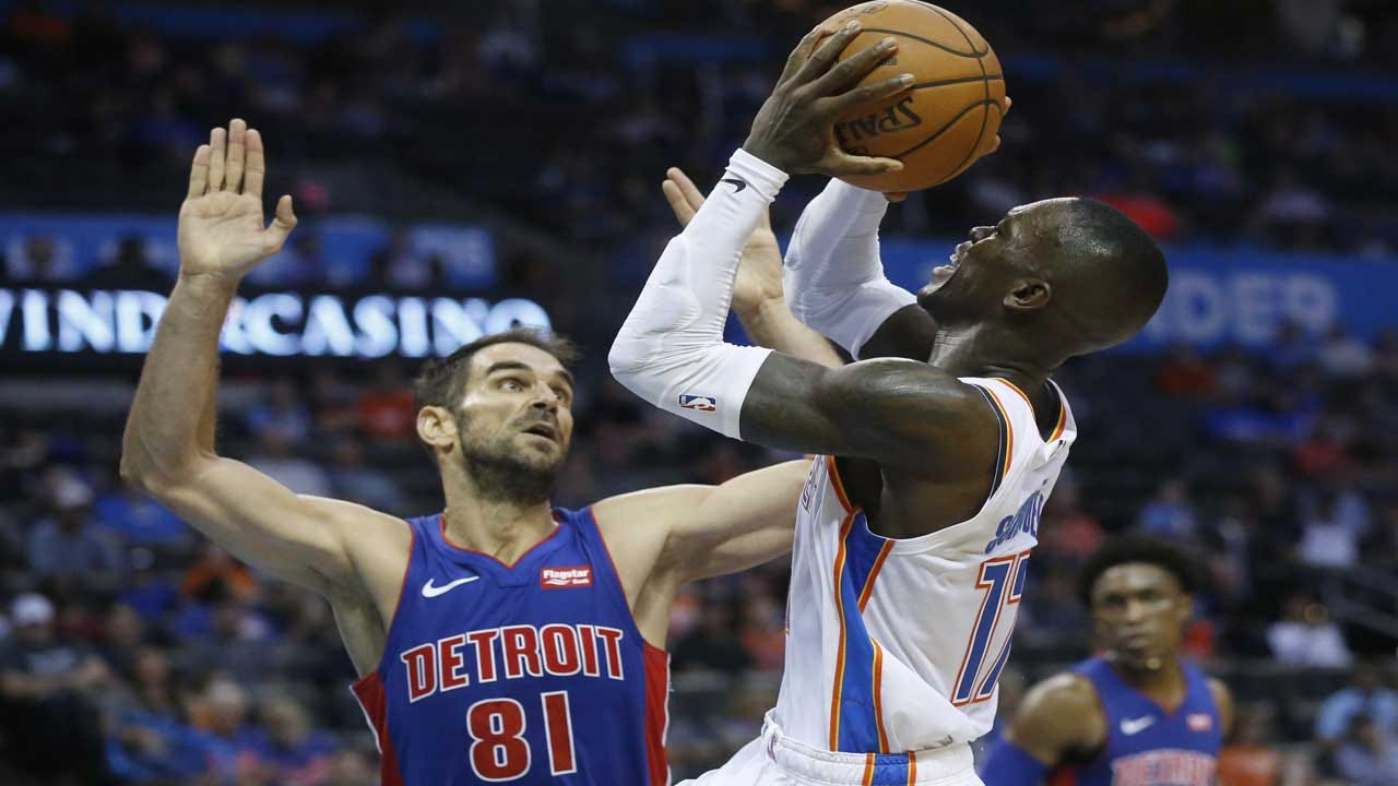 Thunder Lose To Pistons 97-91 In First Preseason Game