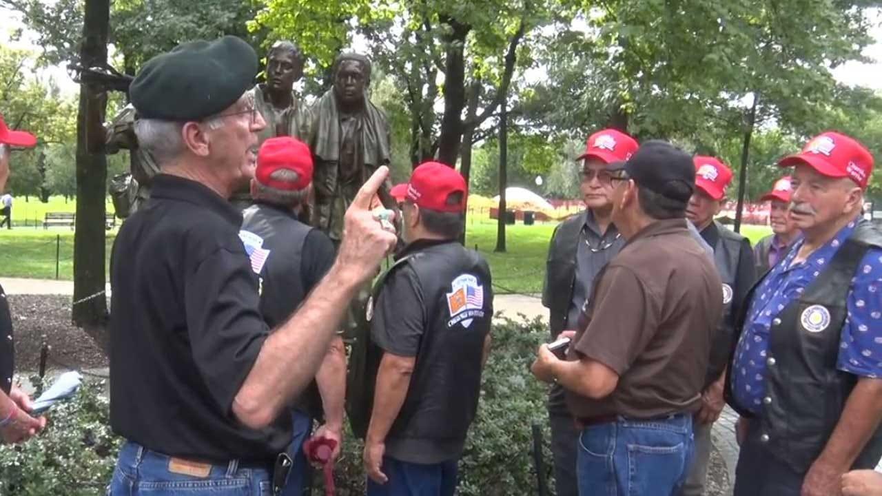 [UNFILTERED] Oklahoma Cherokee Veterans Visit Washington D.C.