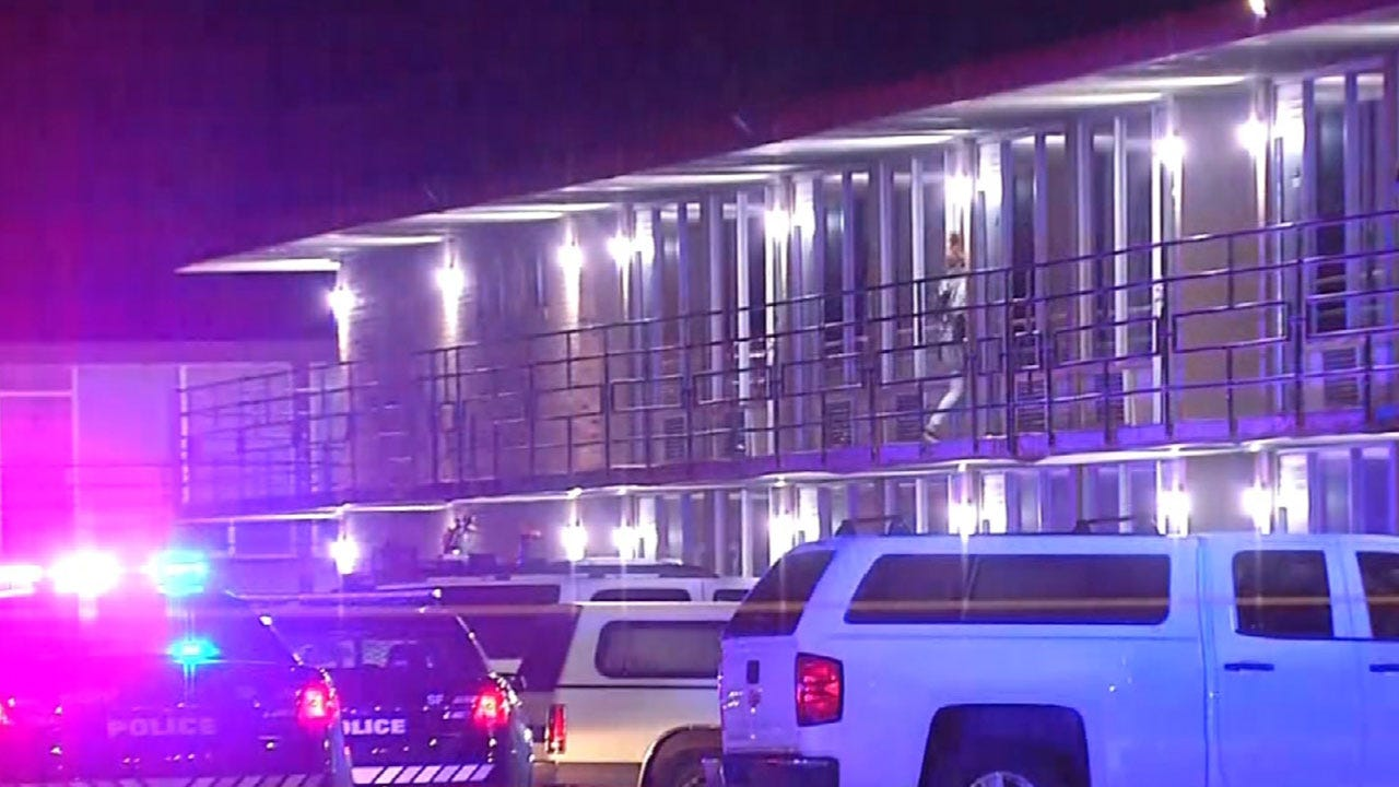 Police Investigate Double Shooting At Plaza Inn In SW OKC