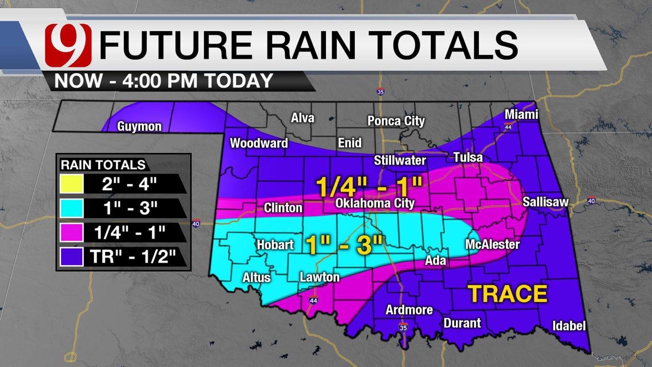 Heavy Rain Along, South Of I-40 Wednesday