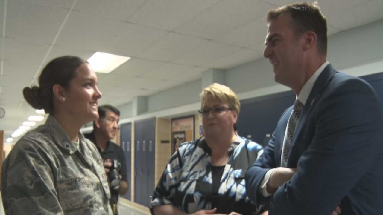 Governor Stitt Visits Southeast HS Ahead Of Application School Expansion
