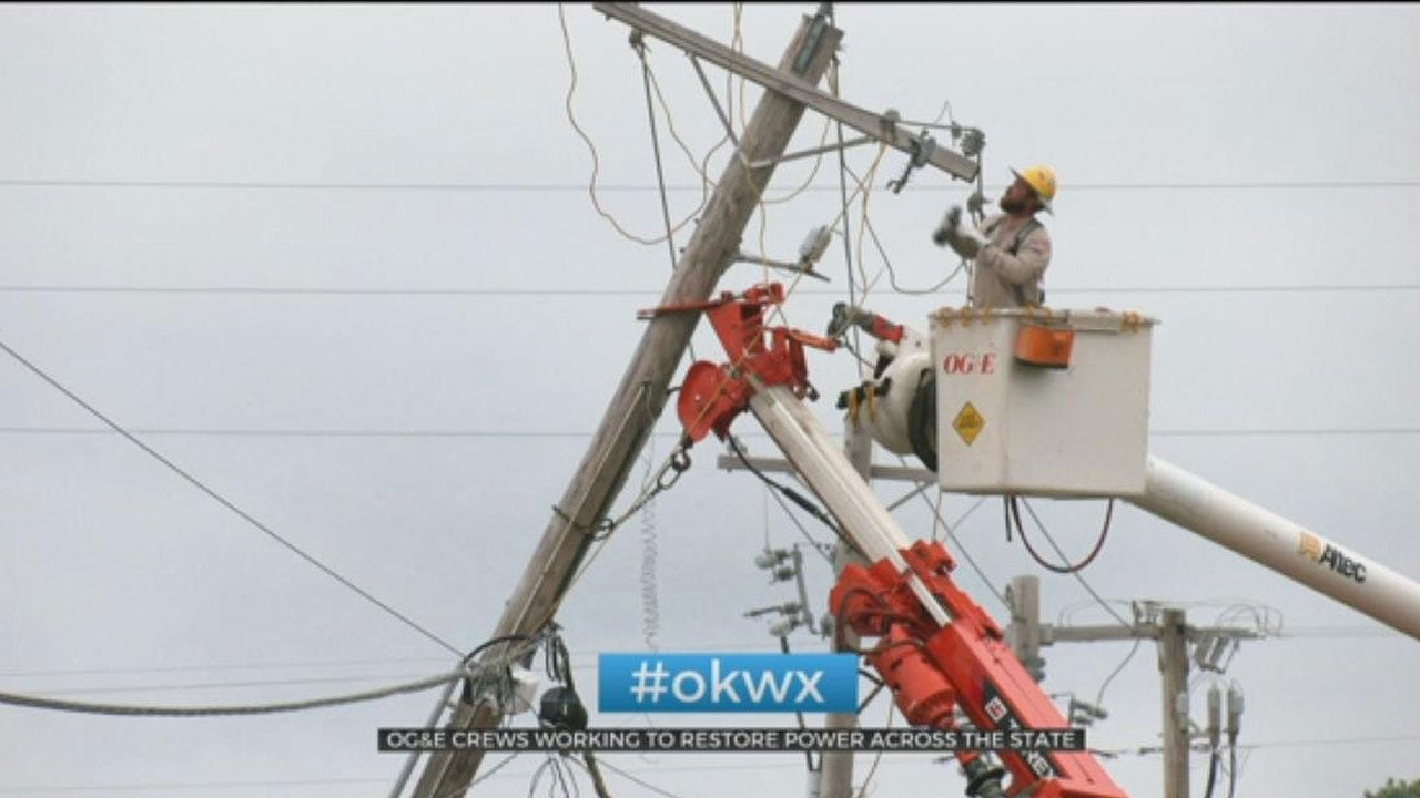 OG&E Crews Working To Restore Power Across The State