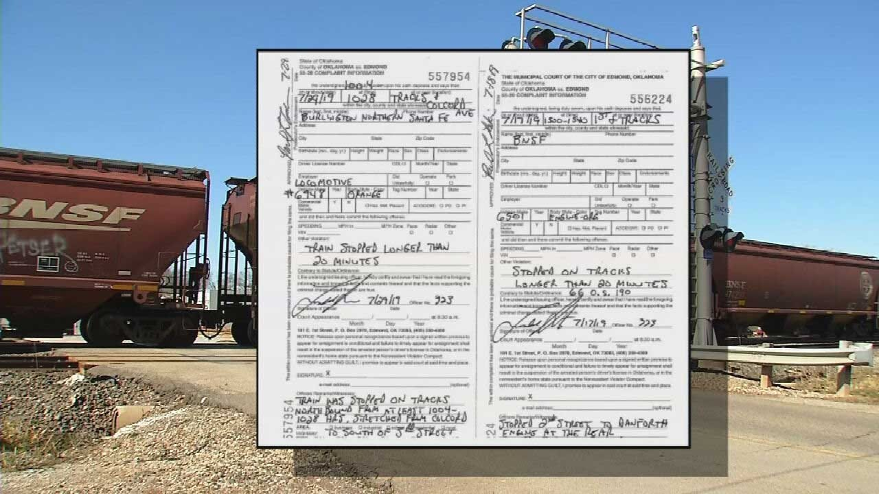 BNSF Railroad Ticketed For Blocking Intersections In 2 Oklahoma Cities