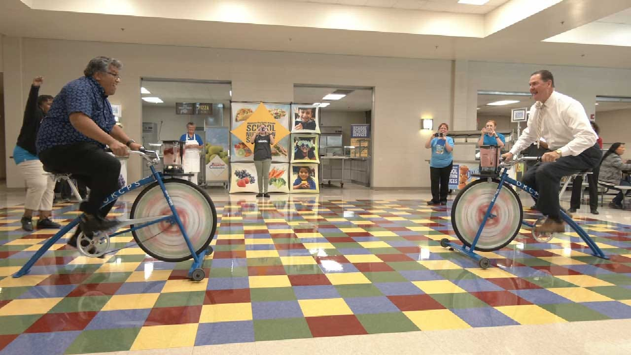OKCPS Prepares For Feeding Frenzy With New Nutrition Services, Includes Smoothie-Blending Bikes