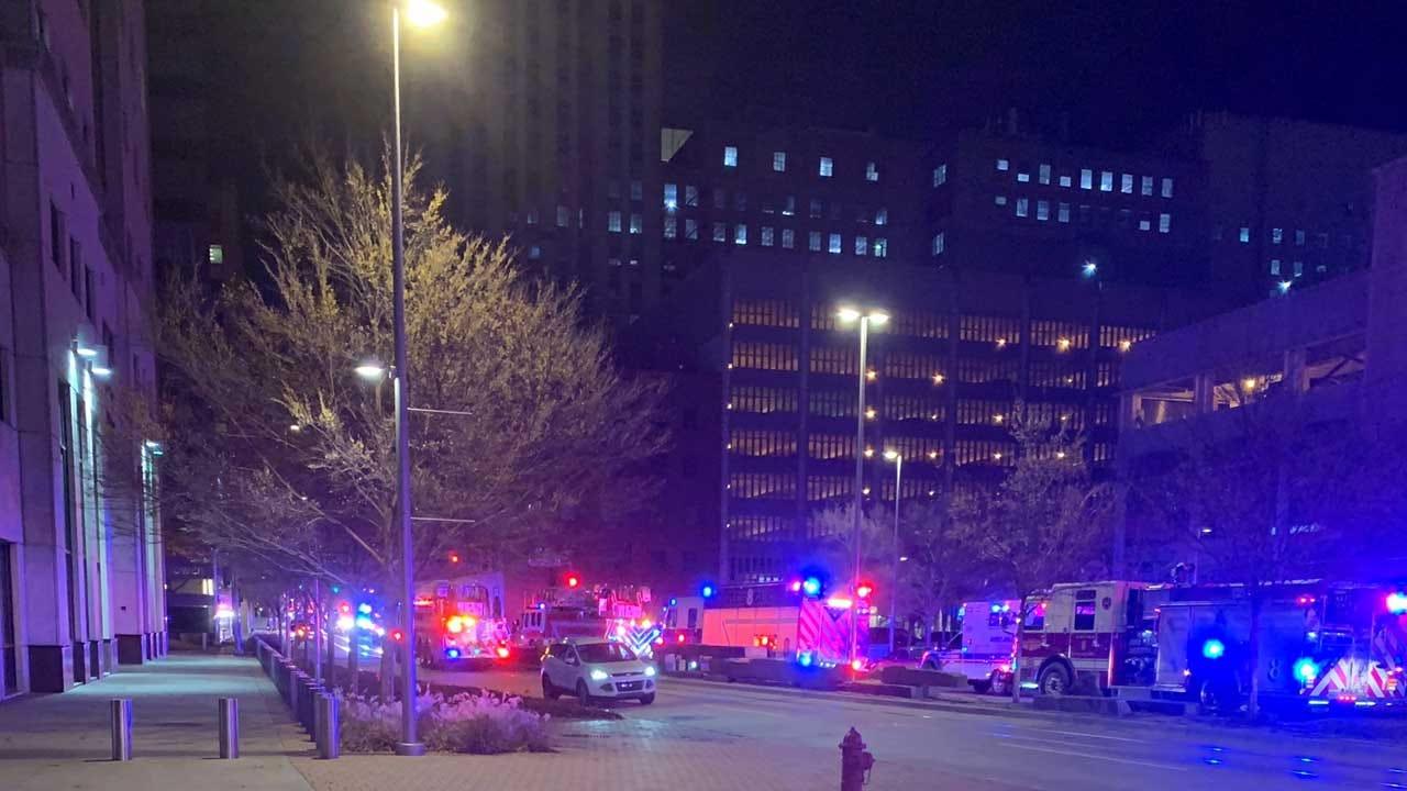 Crews Respond To Fire At OKC's First National Center