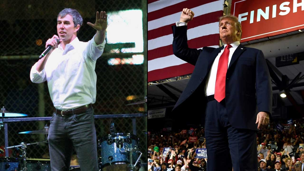 In Dueling Border Rallies, Trump And O'Rourke Tout Divergent Messages On Immigration