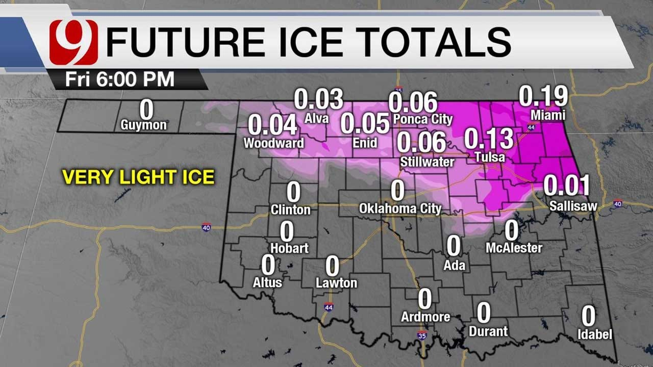 Northern Okla. Sees Freezing Rain, Winter Weather Advisory In Place For Parts Of Okla.