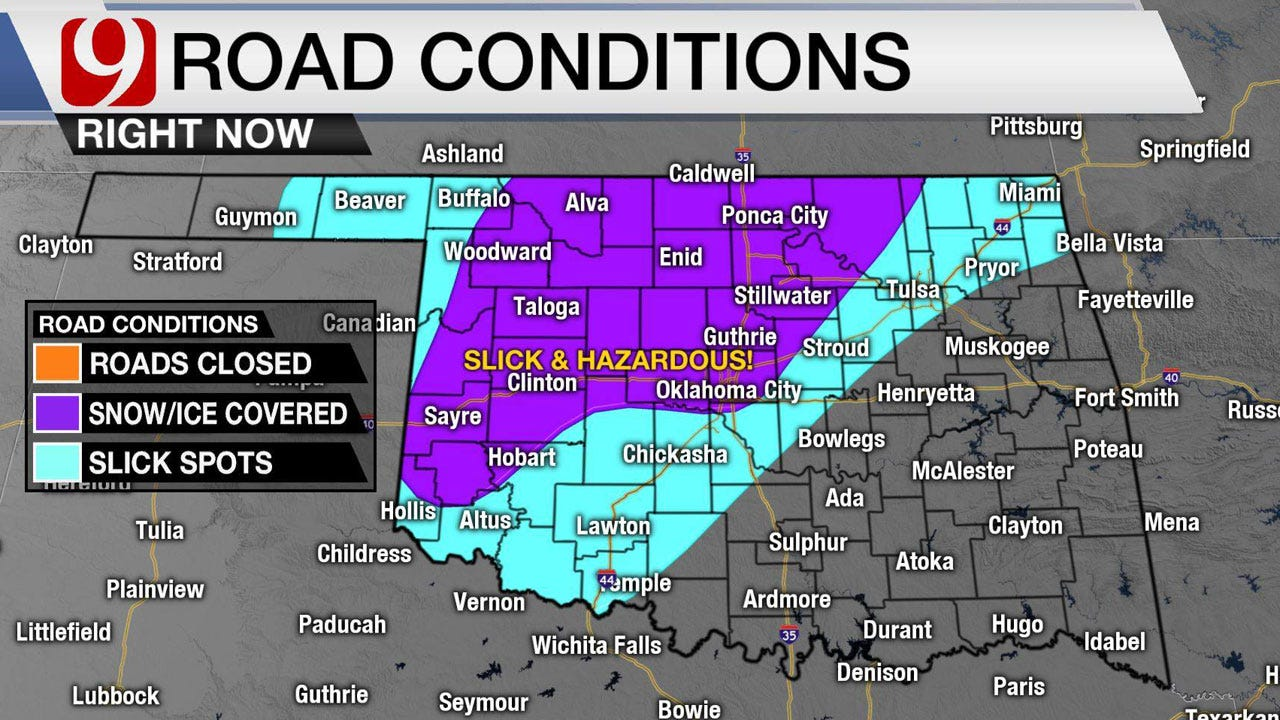 Winter Weather Poses Problems For Drivers Across Oklahoma