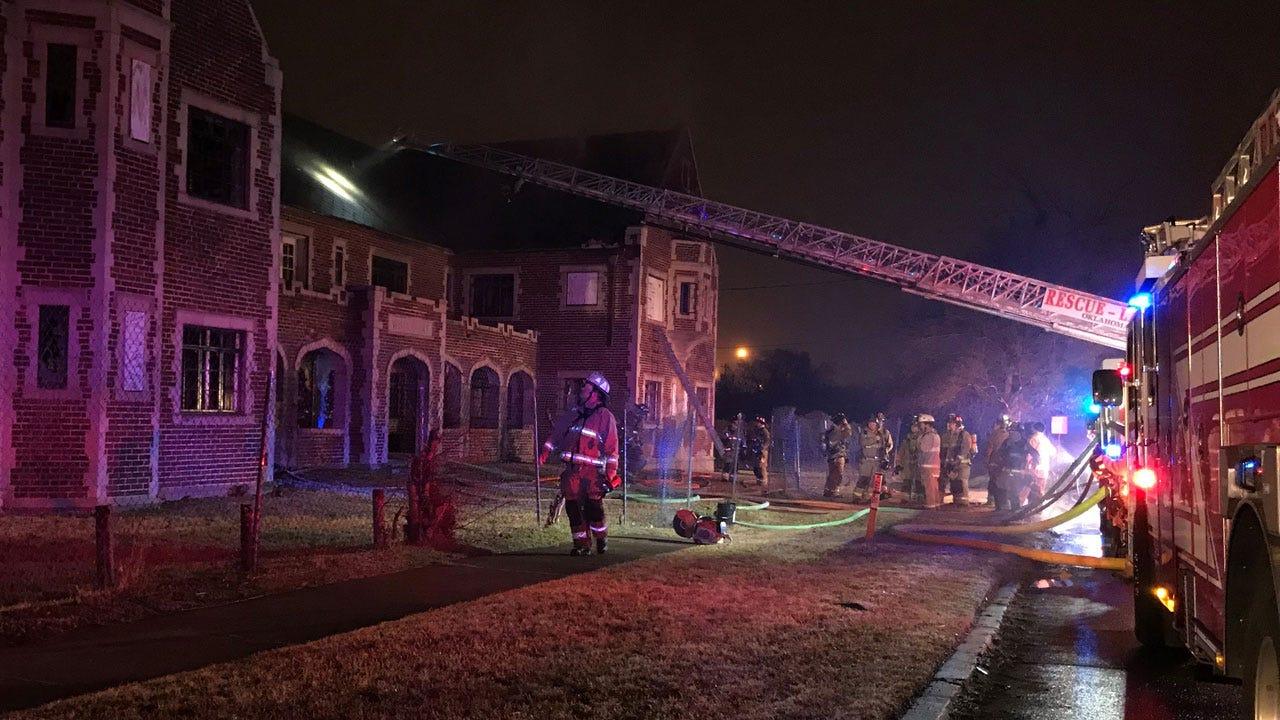 Firefighters Battle Vacant Structure Fire In NE OKC