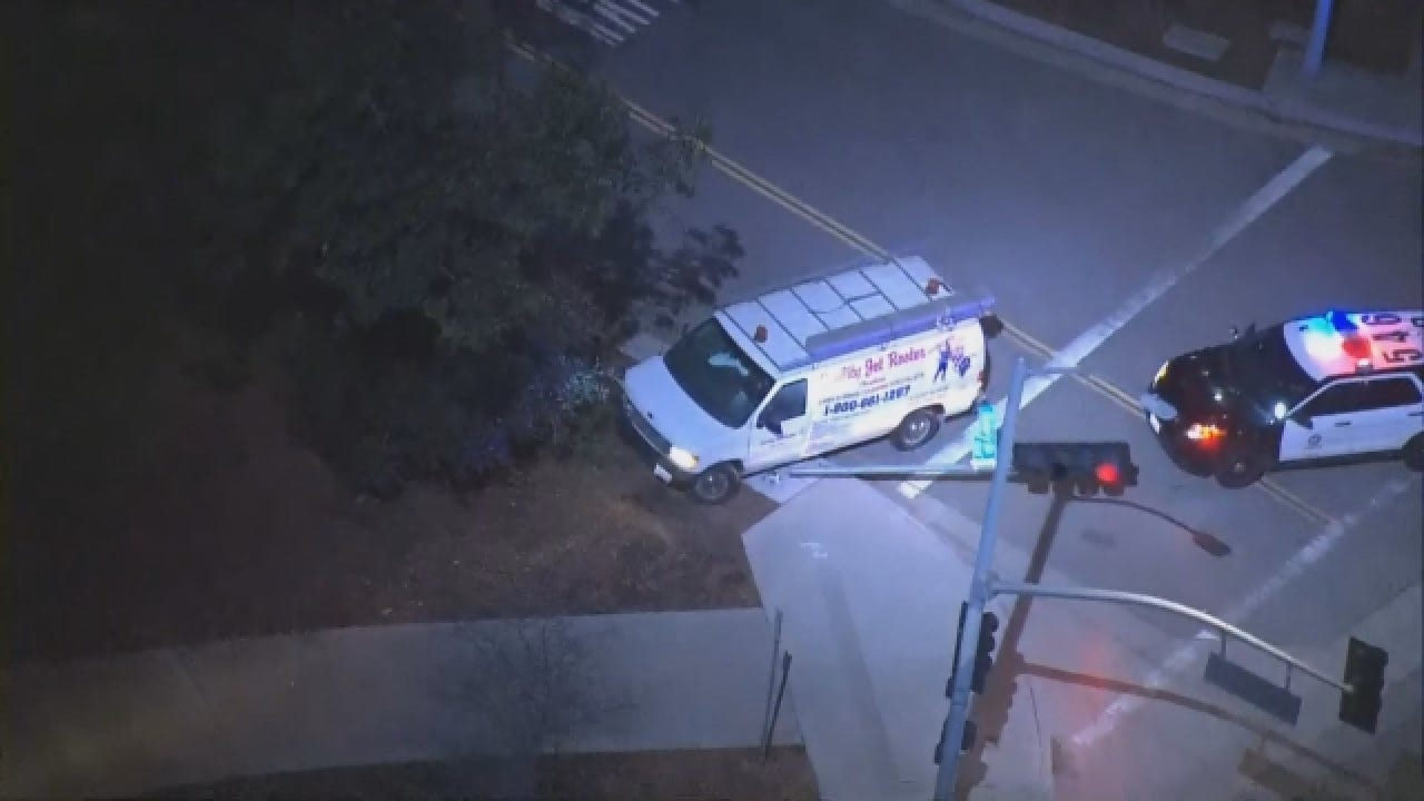 High-Speed Police Pursuit Involving Business Van Ends In Crash