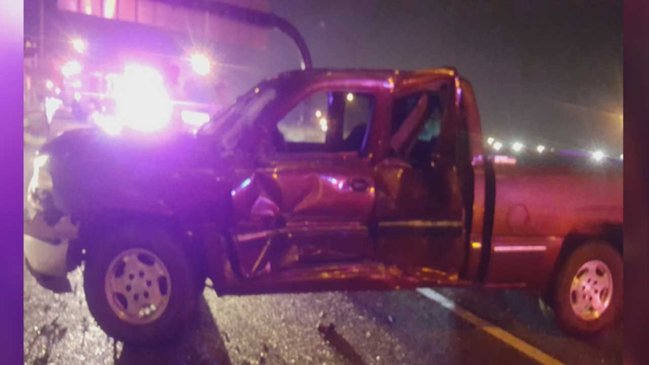 Driver Urges Caution After Vehicle Smashes Into His Tow Truck