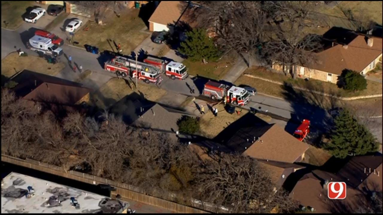 Firefighters Battle House Fire In NW OKC
