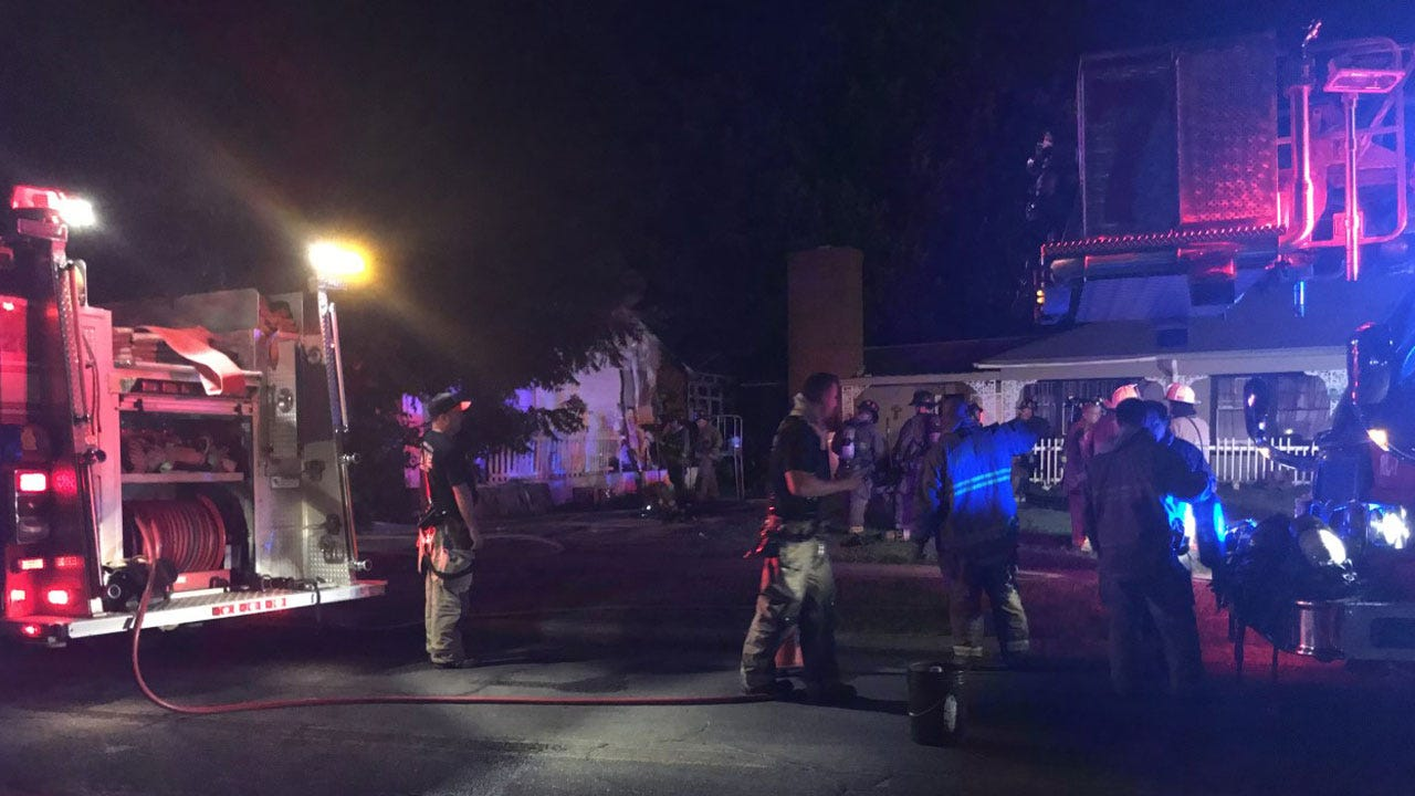 Firefighters Investigate Fire That Damaged Neighboring Vacant Homes In SE OKC