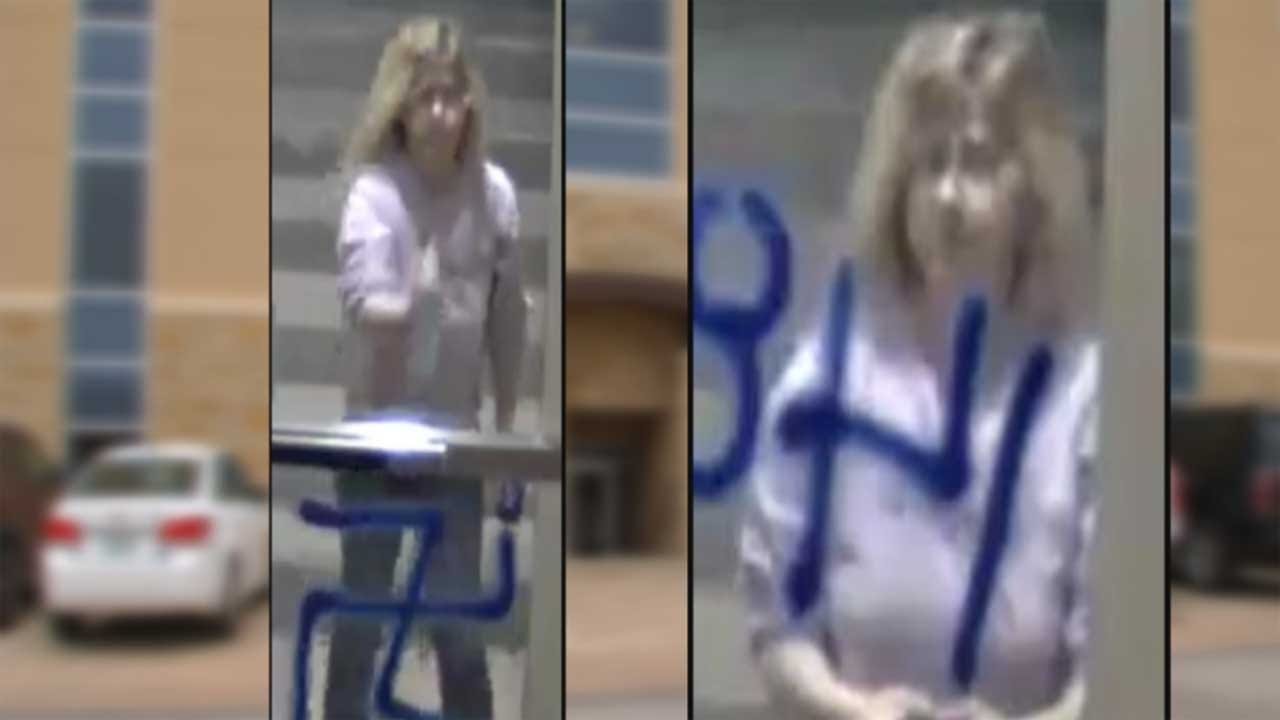 Suspect Wanted In Connection With 2 Hate Crimes Involving Racist Graffiti In OKC
