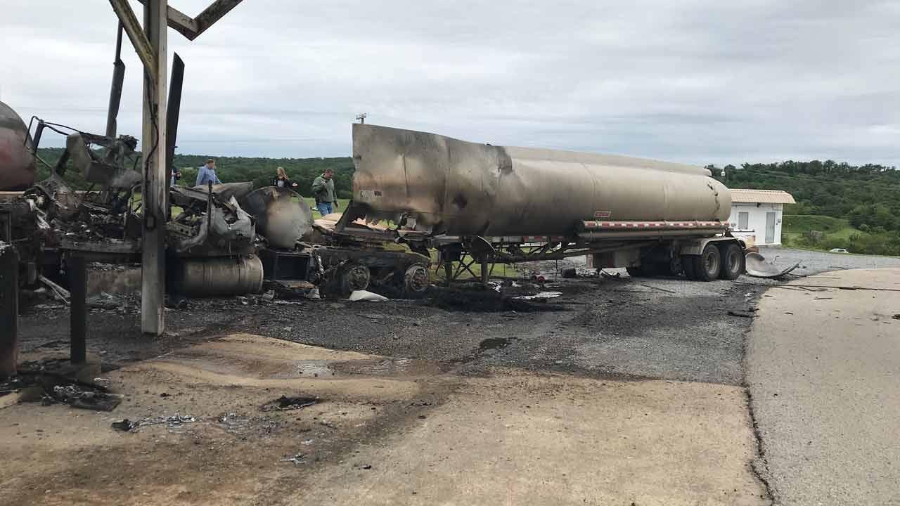 Fuel Truck Explodes At Oklahoma Prison