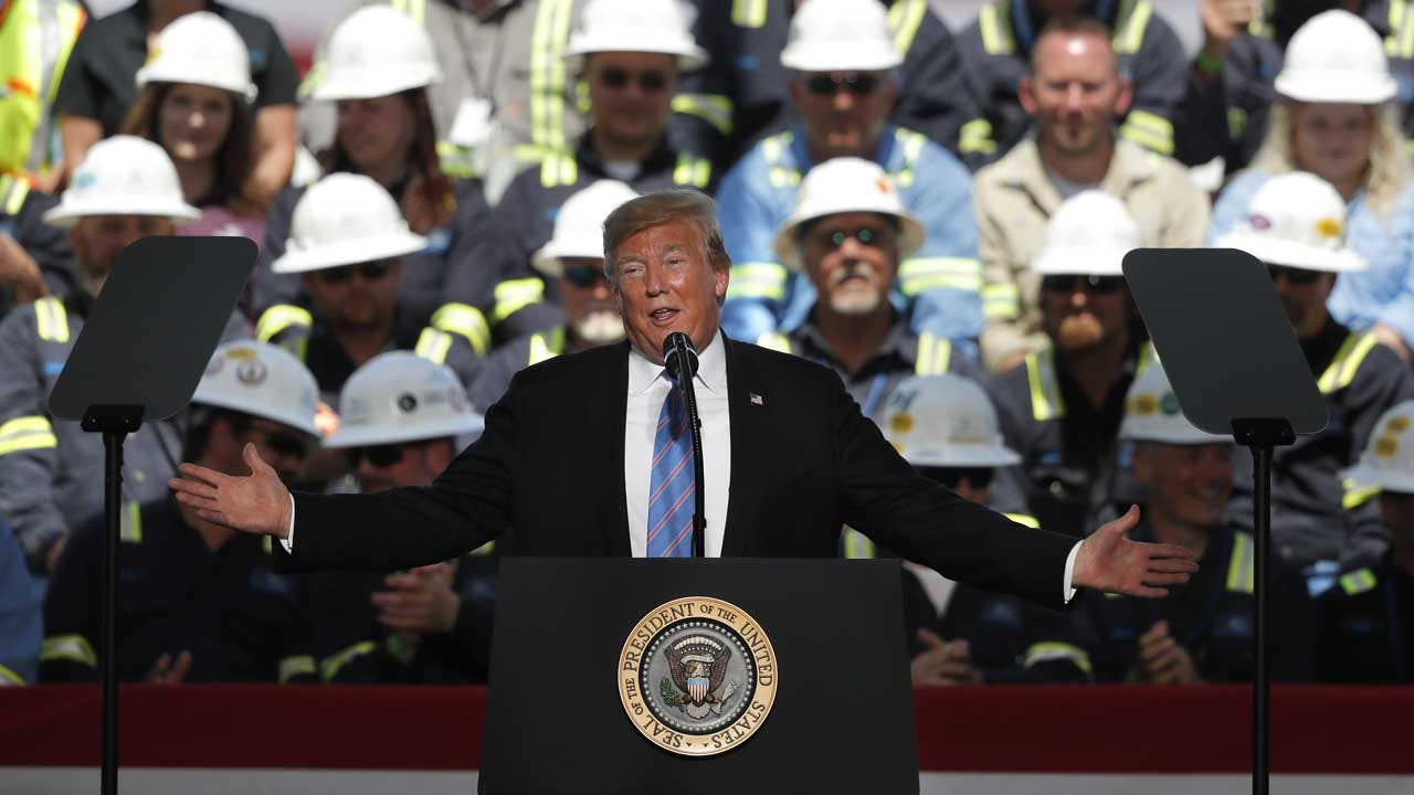 President Trump Bashes Democratic Opponents In Campaign-Style Louisiana Speech