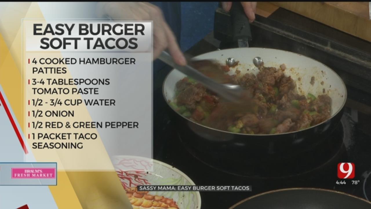 Easy Burger Soft Tacos