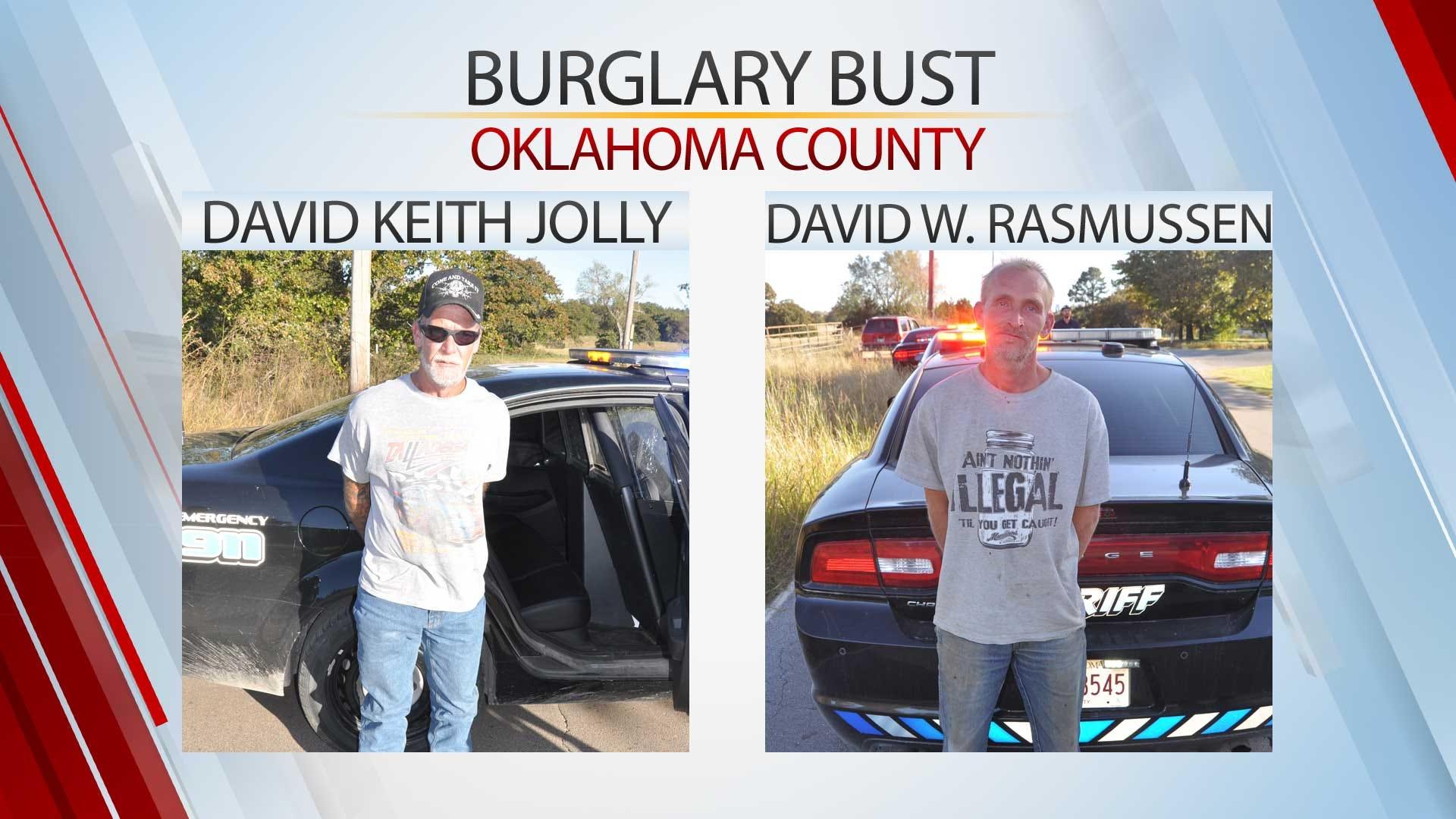 2 Arrested In Oklahoma County Burglary Bust