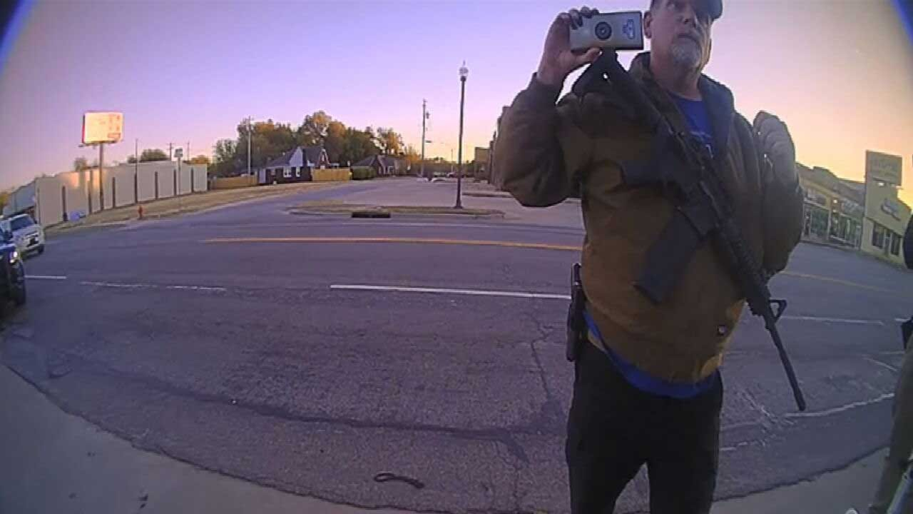 WATCH: Bodycam Video Released Of Officer's Interaction With Man Carrying AR-15 Near NE OKC Church