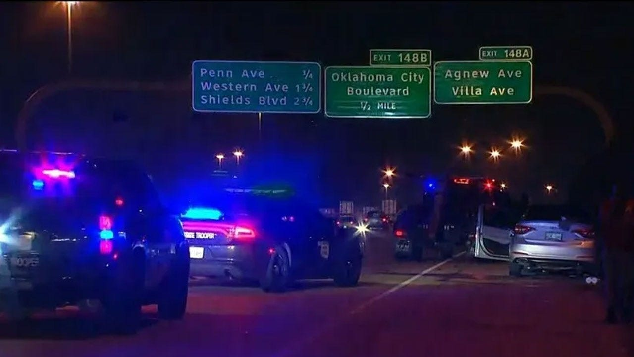 Woman Taken To Hospital Following Accident On I-40 Eastbound At May