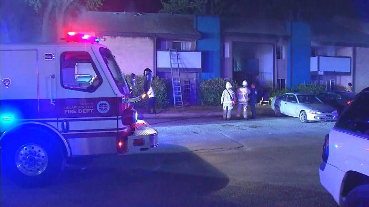 Woman, Child Escape NW OKC Apartment Fire By Jumping From Balcony