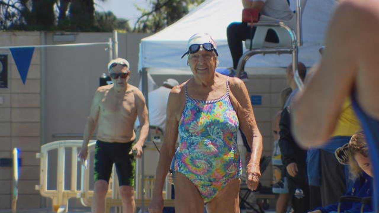 97-Year-Old Swimmer 'Mighty Mo' Refuses To Slow Down