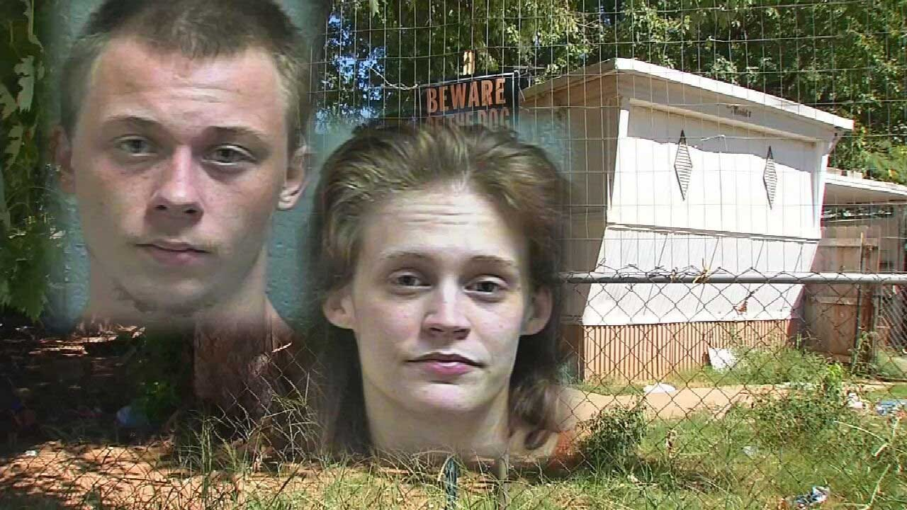 OKC Couple Arrested For Alleged Animal Cruelty After 11 Starving Dogs Found In Trailer