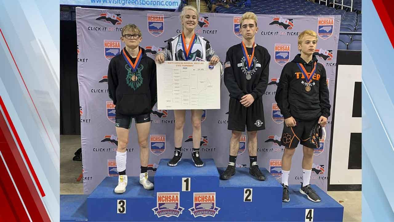 Female Wrestler Wins North Carolina High School Championship
