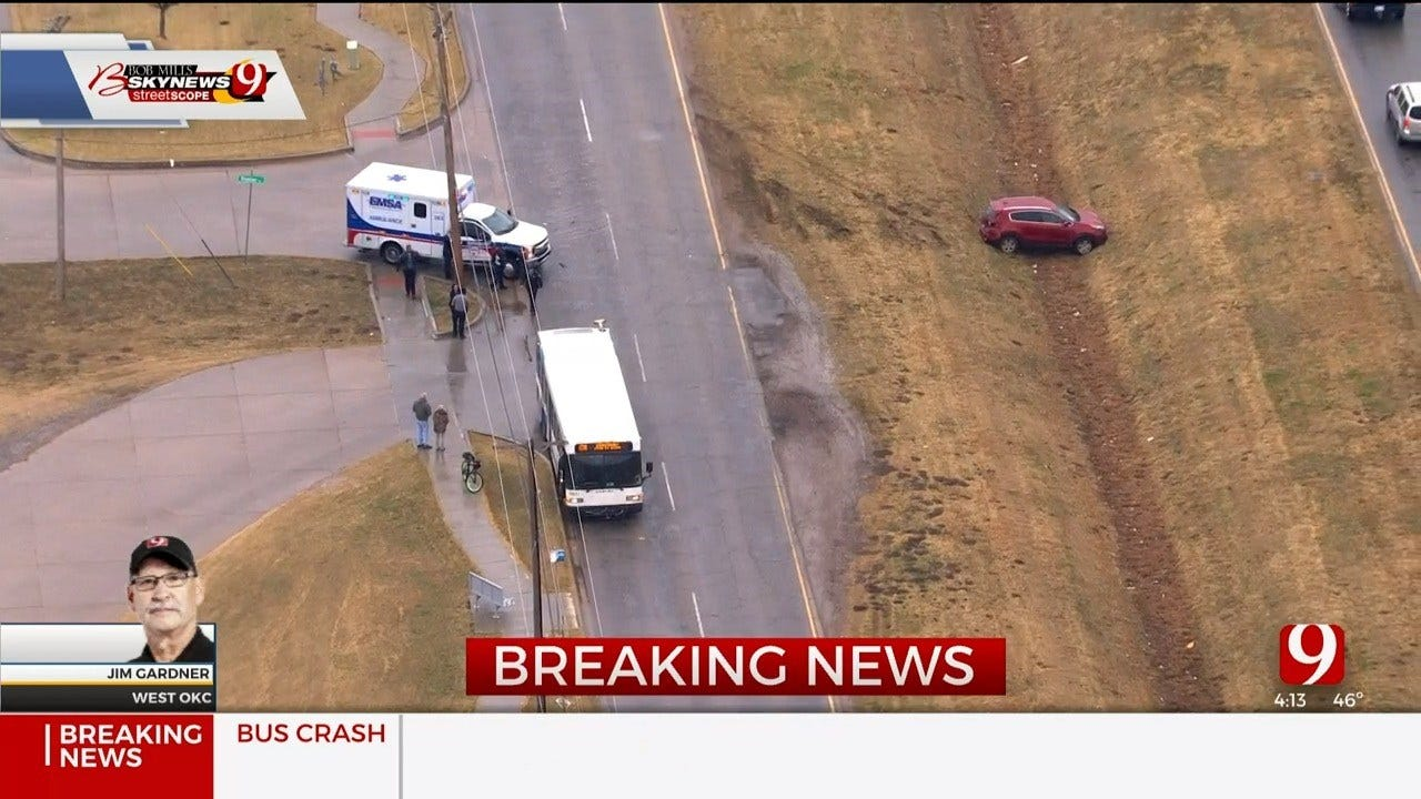 1 Injured In Crash Involving A City Bus In W OKC