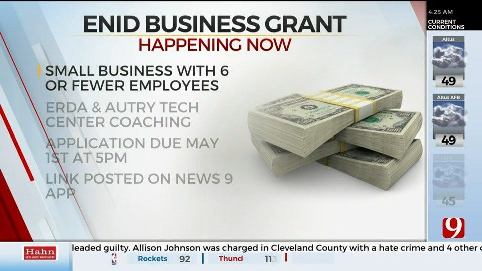 Enid Regional Development Alliance Looking To Give Grant To Business