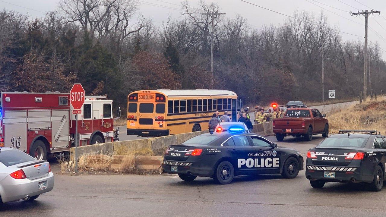 Emergency Crews Respond To Accident Involving School Bus, Concrete Truck In SE OKC
