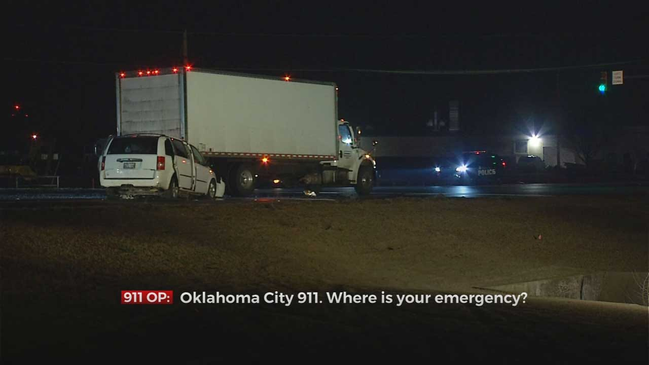 Police Investigate After Man Dies In Crash Involving Box Truck In NW OKC