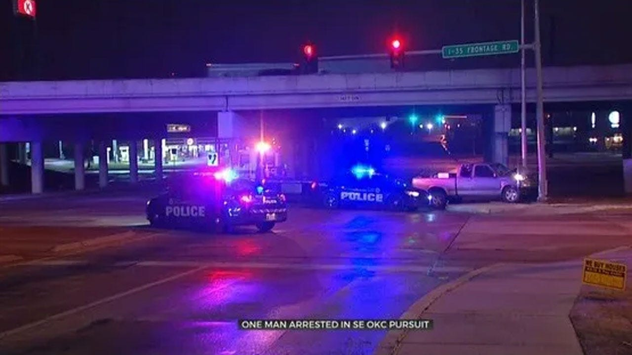 1 Arrested After Chase Ends With Crash In SE OKC
