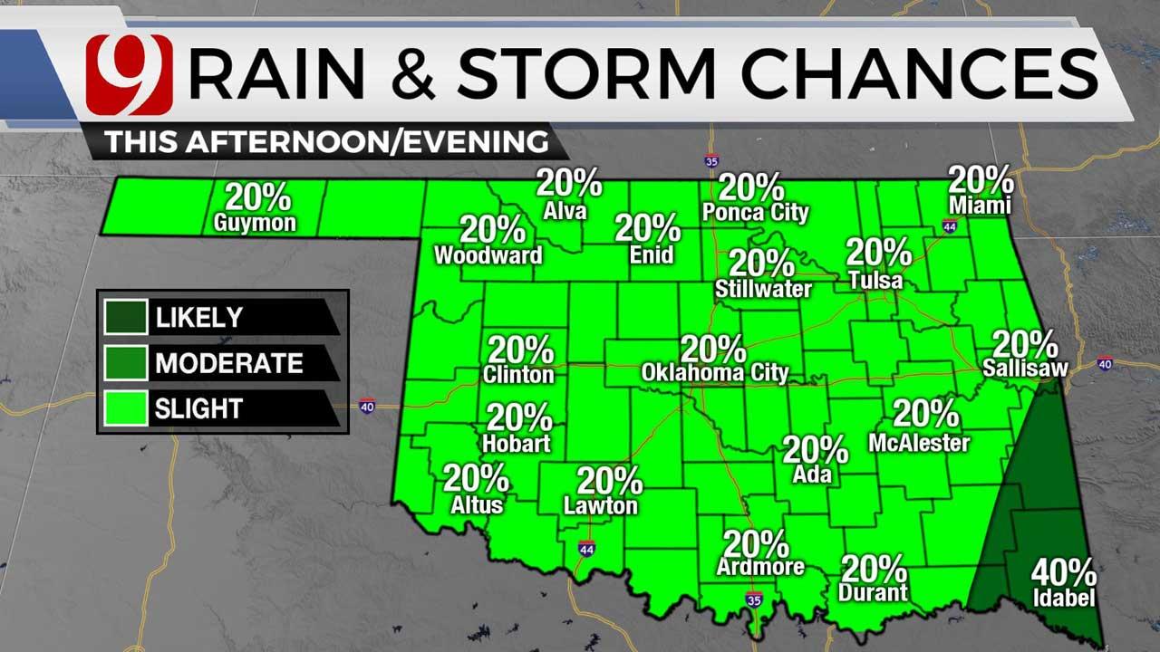 rain chances for 7/29